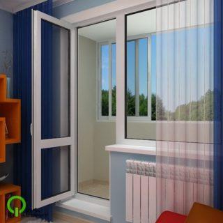балконный блок в интерьре