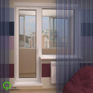 балконный блок /дверь стекло/